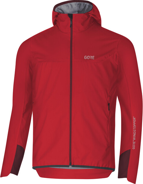 GORE WEAR H5 Windstopper Insulated Hooded Jacket Men redchestnut red